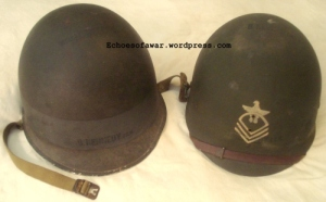 Helmet of Chief Carpenter's Mate Kennedy, 108th Naval Construction Battalion