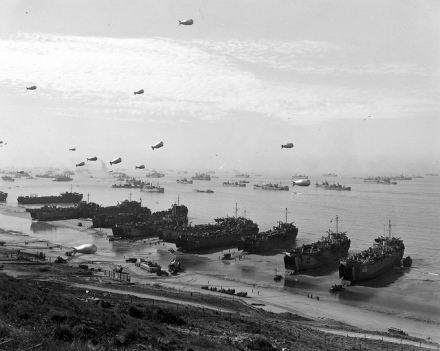The landings at Omaha Beach