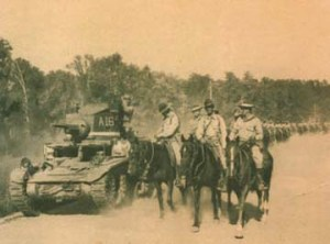 Cavalry and Tanks on the move in Louisiana